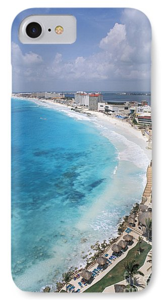 Aerial Of Cancun Phone Case by Bill Bachmann - Printscapes