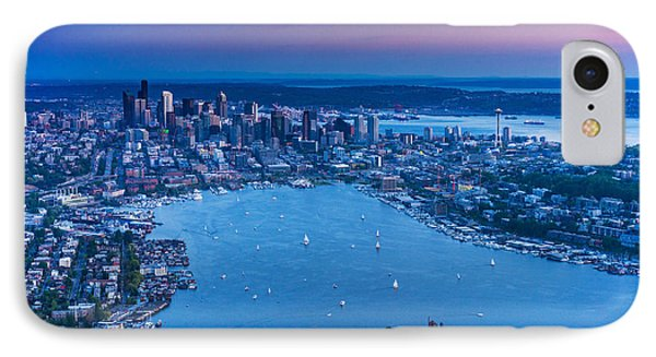 Aerial Seattle And Lake Union IPhone Case by Mike Reid