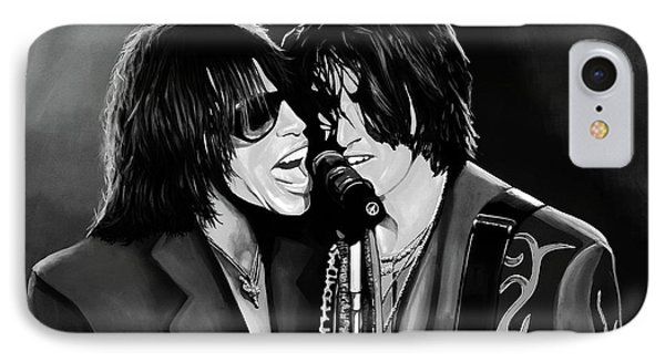 Aerosmith Toxic Twins Mixed Media IPhone Case by Paul Meijering