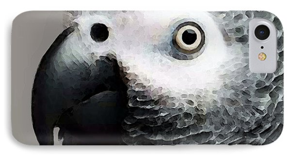 African Gray Parrot Art - Softy IPhone 7 Case by Sharon Cummings