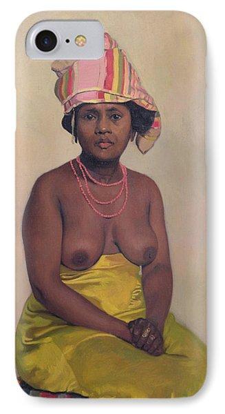 African Woman Phone Case by Felix Edouard Vallotton