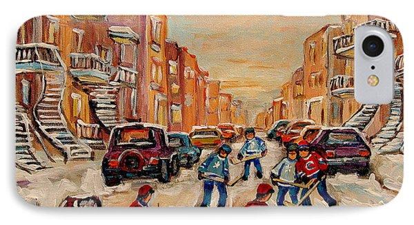 After School Hockey Game Phone Case by Carole Spandau