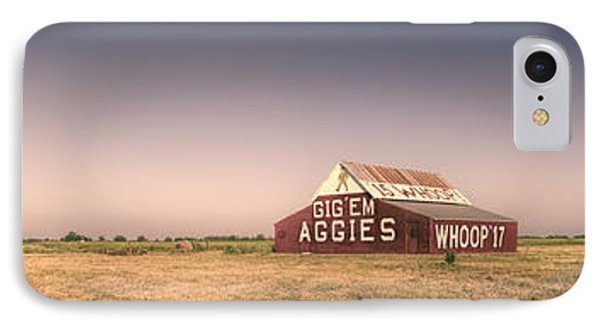 Aggie Barn Panorama IPhone Case by Joan Carroll