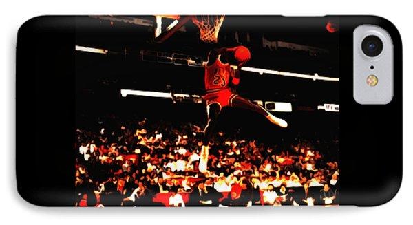 Air Jordan 1988 Slam Dunk Contest 8c IPhone Case by Brian Reaves