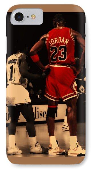 Air Jordan And Muggsy Bogues IPhone Case by Brian Reaves