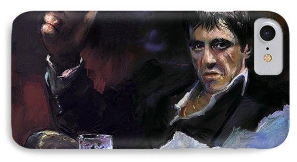 Al Pacino Snow Phone Case by Ylli Haruni