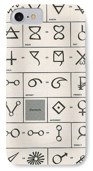 Alchemy Symbols Phone Case by Science Source