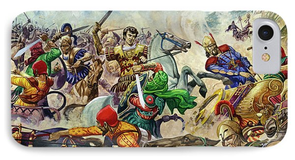 Alexander The Great At The Battle Of Issus  IPhone Case by Peter Jackson