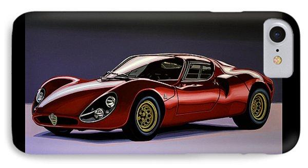 Alfa Romeo 33 Stradale 1967 Painting IPhone Case by Paul Meijering