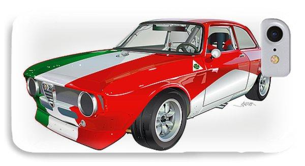 Alfa Romeo Gtv Illustration IPhone Case by Alain Jamar