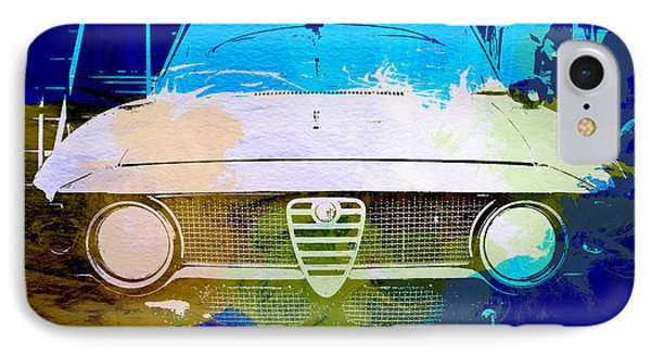 Alfa Romeo Watercolor IPhone Case by Naxart Studio
