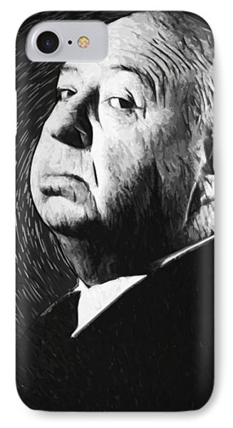 Alfred Hitchcock IPhone Case by Taylan Apukovska