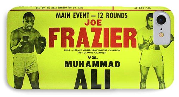 Ali Vs Frazier Boxing Poster IPhone Case by Bill Cannon