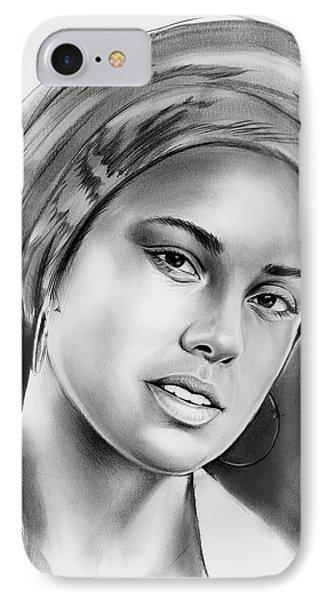 Alicia Keys 2 IPhone Case by Greg Joens