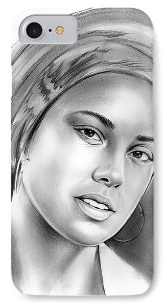 Alicia Keys IPhone Case by Greg Joens