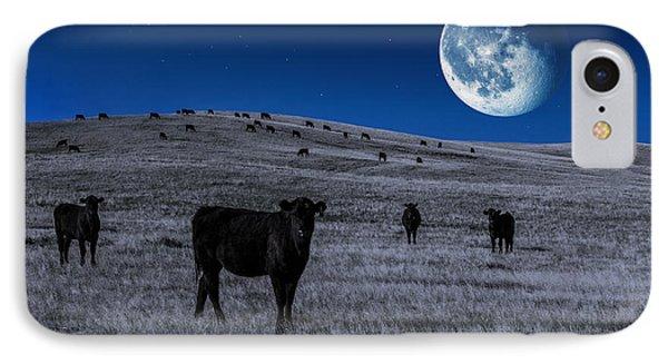 Alien Cows IPhone Case by Todd Klassy