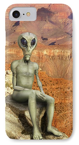 Alien Vacation - Grand Canyon IPhone Case by Mike McGlothlen