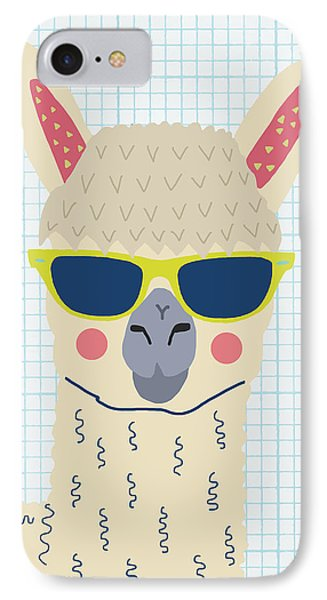Alpaca IPhone 7 Case by Nicole Wilson