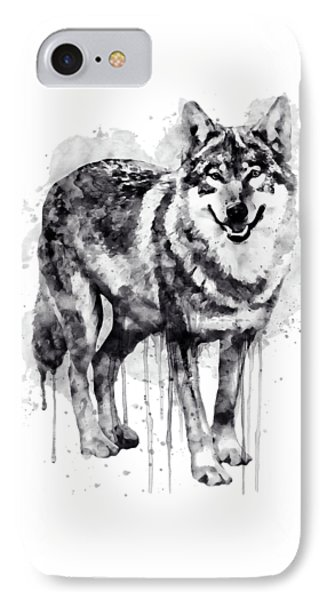 Alpha Wolf Black And White IPhone Case by Marian Voicu