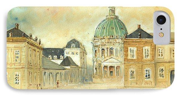 Amalienborg Palace Copenhagen IPhone Case by Juan  Bosco