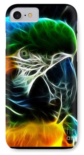 Amazing Parrot Portrait IPhone Case by Pamela Johnson