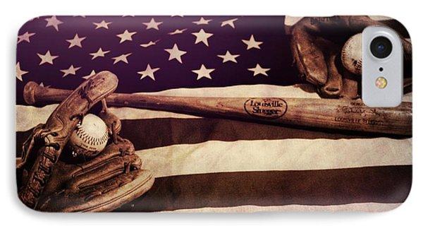American Baseball Grunge IPhone Case by Dan Sproul