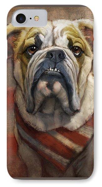 American Bulldog IPhone Case by Sean ODaniels