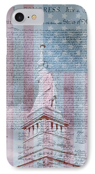 American Declaration Of Independence IPhone Case by Dan Sproul