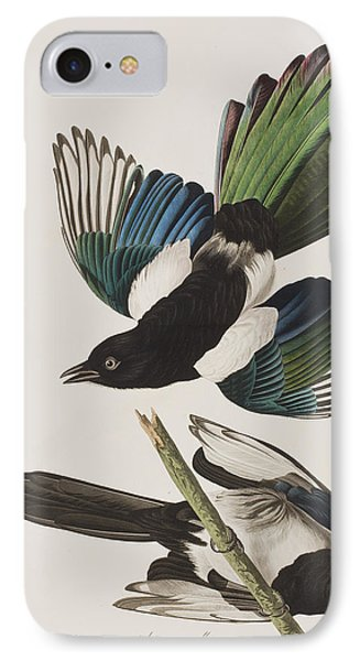 American Magpie IPhone Case by John James Audubon