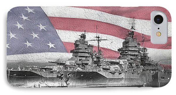 American Naval Power IPhone Case by JC Findley