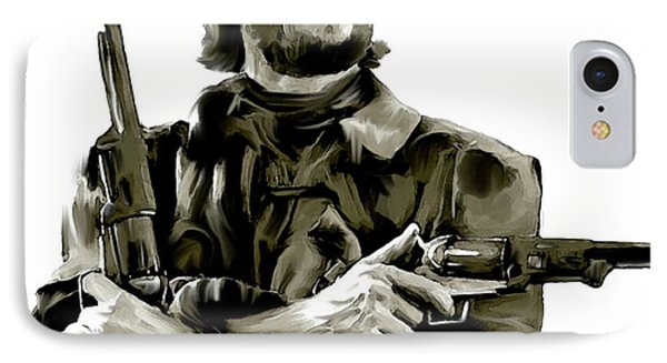 American Outlaw V Clint Eastwood IPhone Case by Iconic Images Art Gallery David Pucciarelli