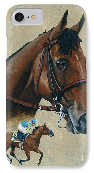 American Pharoah IPhone Case by Pat DeLong