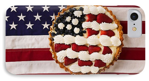 American Pie On American Flag  IPhone 7 Case by Garry Gay