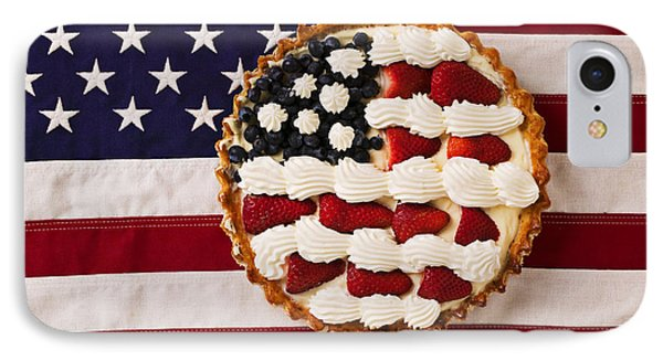 American Pie On American Flag  IPhone Case by Garry Gay