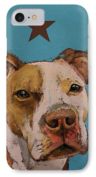 American Pit Bull IPhone Case by Michael Creese