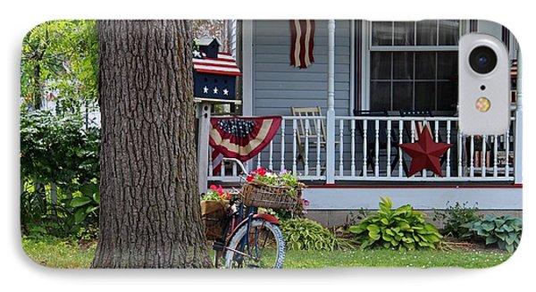 Americana On Main Street IPhone Case by Michiale Schneider