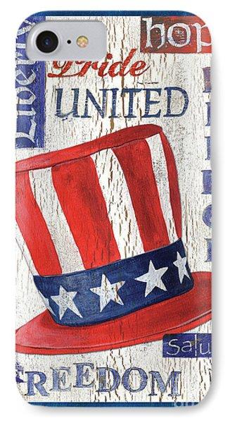 Americana Patriotic IPhone Case by Debbie DeWitt