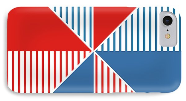 Americana Pinwheel IPhone Case by Linda Woods