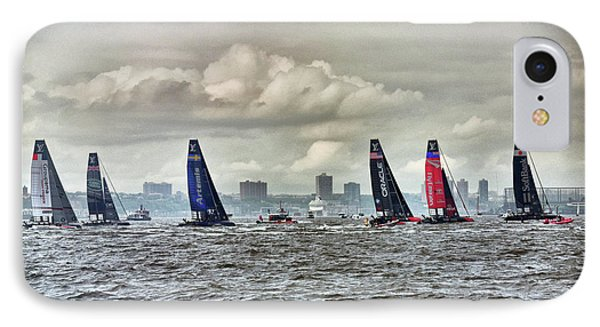 America's Cup Contestants In New York Harbor, May 2016 IPhone 7 Case by Sandy Taylor