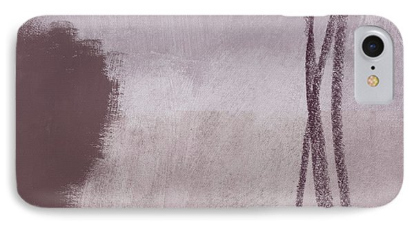 Amethyst 2- Abstract Art By Linda Woods IPhone Case by Linda Woods