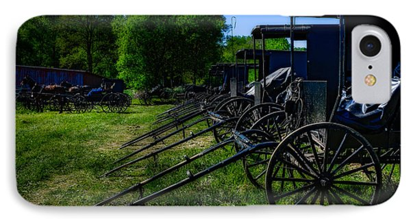 Amish Auction Day IPhone Case by Chris Bordeleau