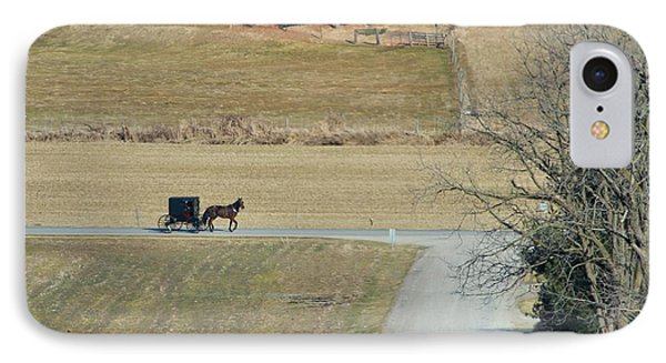 Amish Horse And Buggy On A Country Road IPhone Case by Dan Sproul