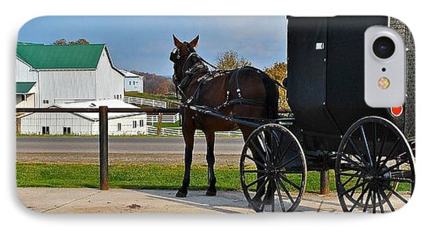 Amish Horse Buggy And Farm IPhone Case by Frozen in Time Fine Art Photography