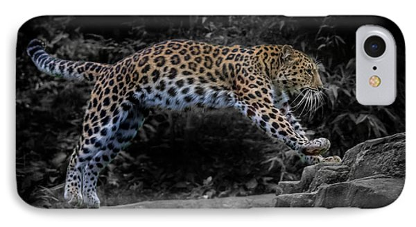 Amur Leopard On The Hunt IPhone Case by Martin Newman