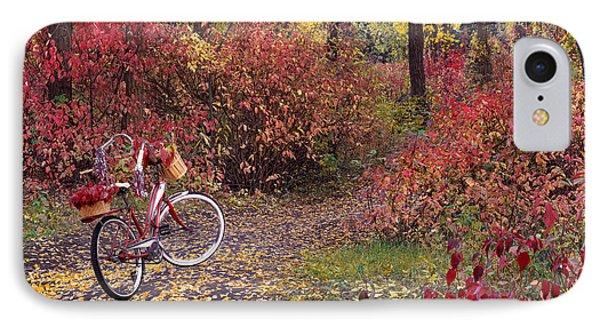 An Autumn Bike Trek IPhone Case by Leland D Howard