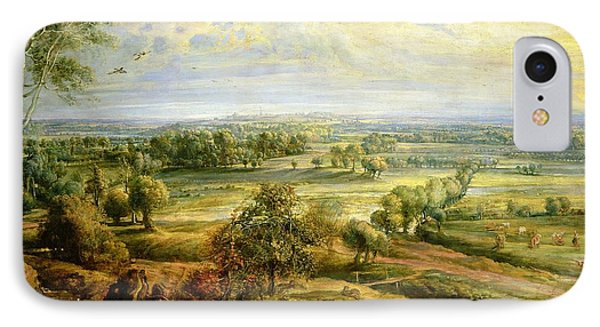 An Autumn Landscape With A View Of Het Steen In The Early Morning IPhone Case by Rubens