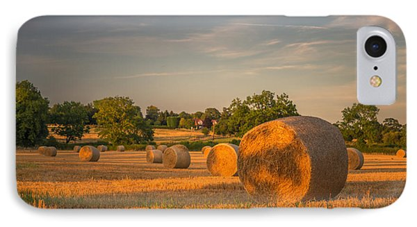 An Evening Amongst The Hay IPhone Case by Chris Fletcher
