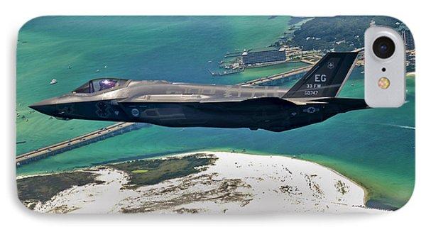 An F-35 Lightning II Flies Over Destin IPhone Case by Stocktrek Images