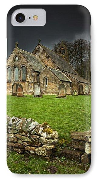 An Old Church Under A Dark Sky Phone Case by John Short