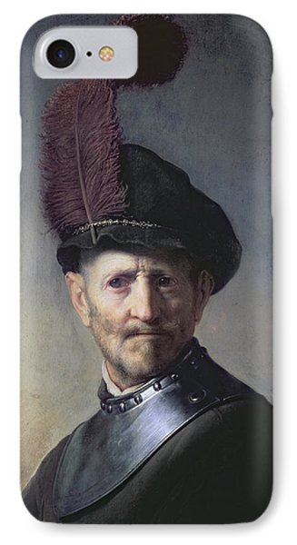 An Old Man In Military Costume IPhone Case by Rembrandt